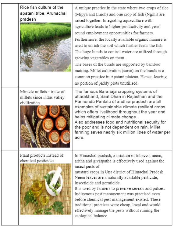 Sustainable farming practices in India