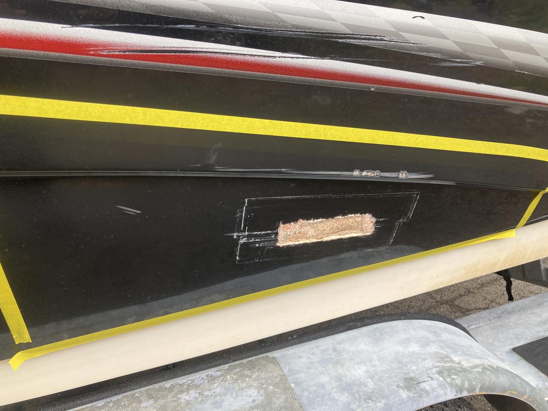 Yamaha Jet Boat prior to repairs.