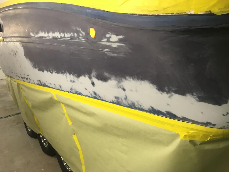 Rinker boat prior to renovation process
