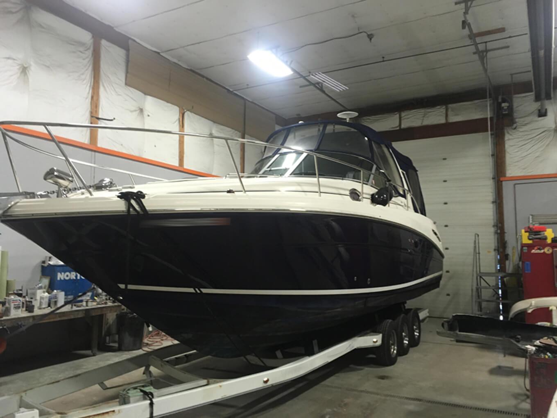 Repaired Rinker boat