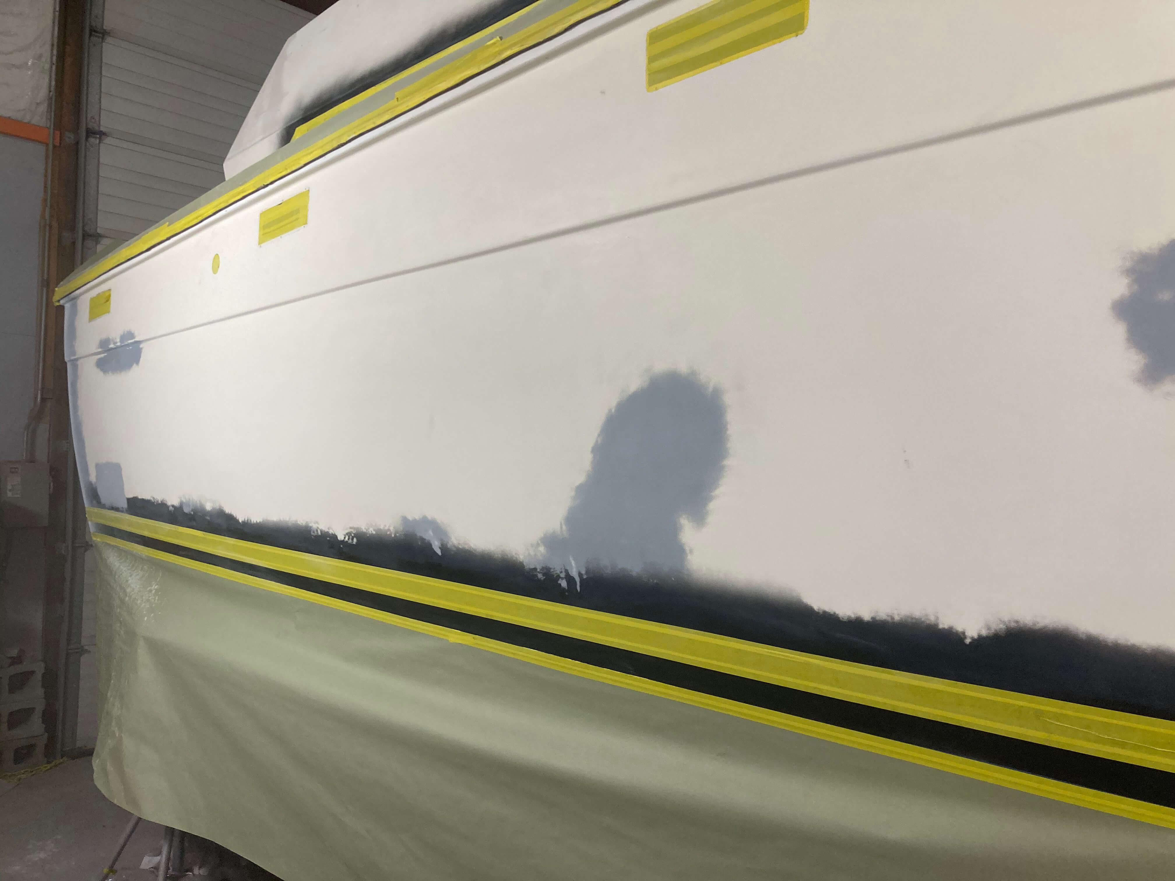 Boat prior to renovation process