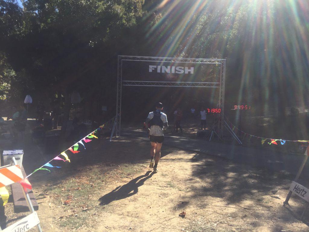 Dick Collins Firetrails 50 mile trail race finish