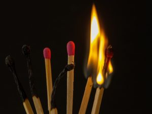 Burning out the matches
