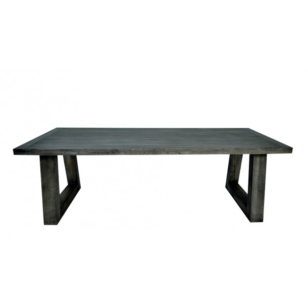 American Oak Dining Table Stained Black
