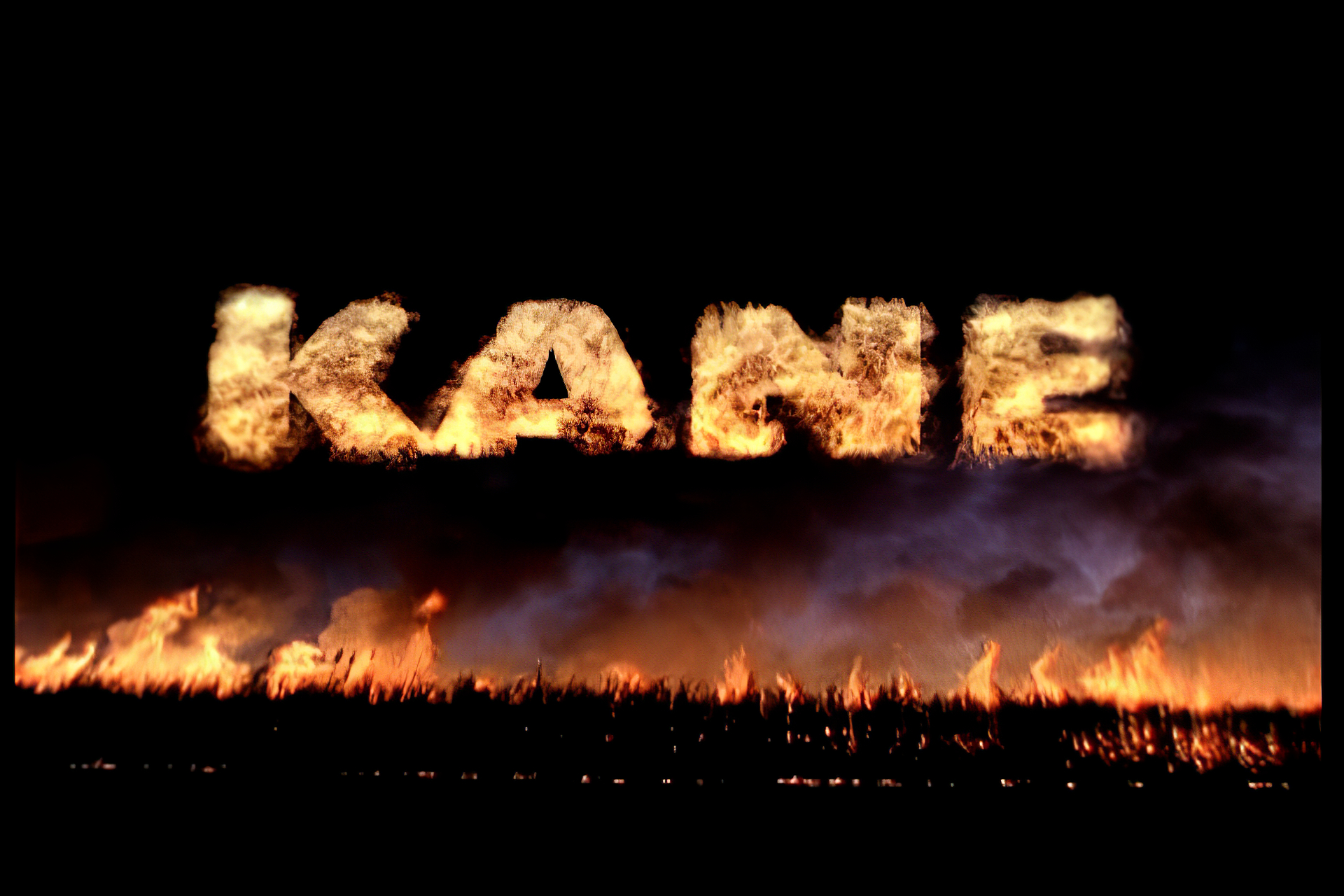 Title card for Trailer of KANE