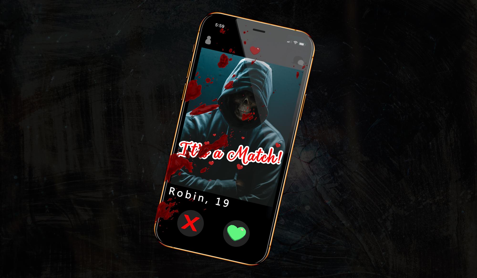 Dating App Concept image. Psycho-Swipe.