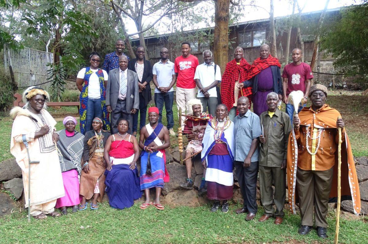Image of TICAH team with elders from different Kenyan communities
