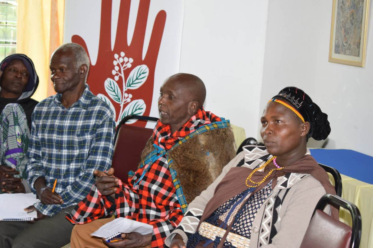 Maasai herbalist contributing to the discussion  at the TICAH herbalist meet