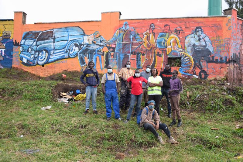 Photo 7 of murals at Nairobi globe roundabout