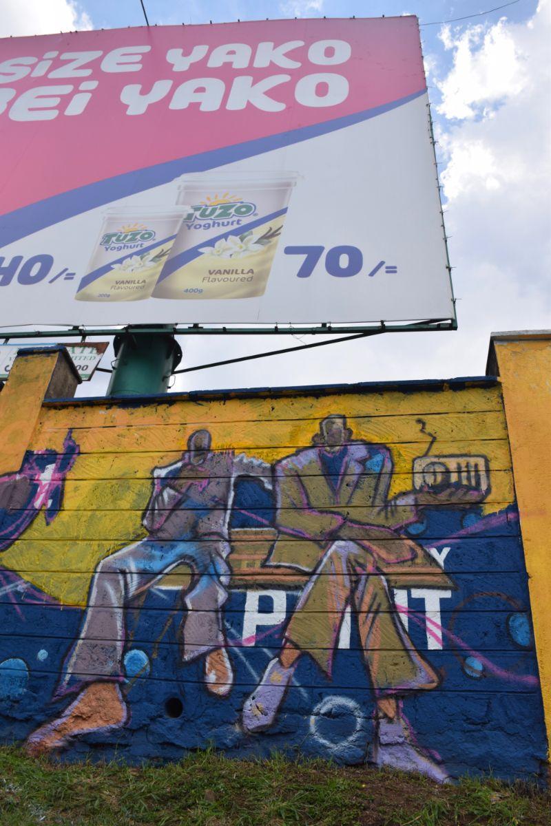 Photo 9 of murals at Nairobi globe roundabout