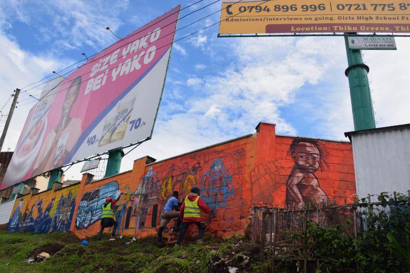 Photo 13 of murals at Nairobi globe roundabout