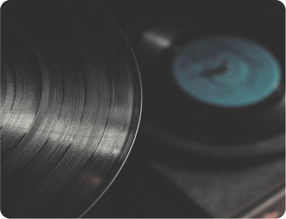records laying flat