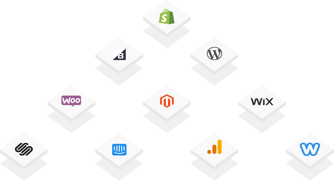An image of e-commerce services that integrate with Emcee.