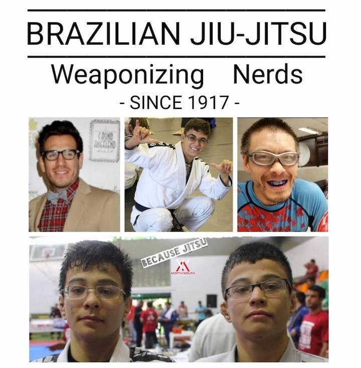 BJJ nerd meme