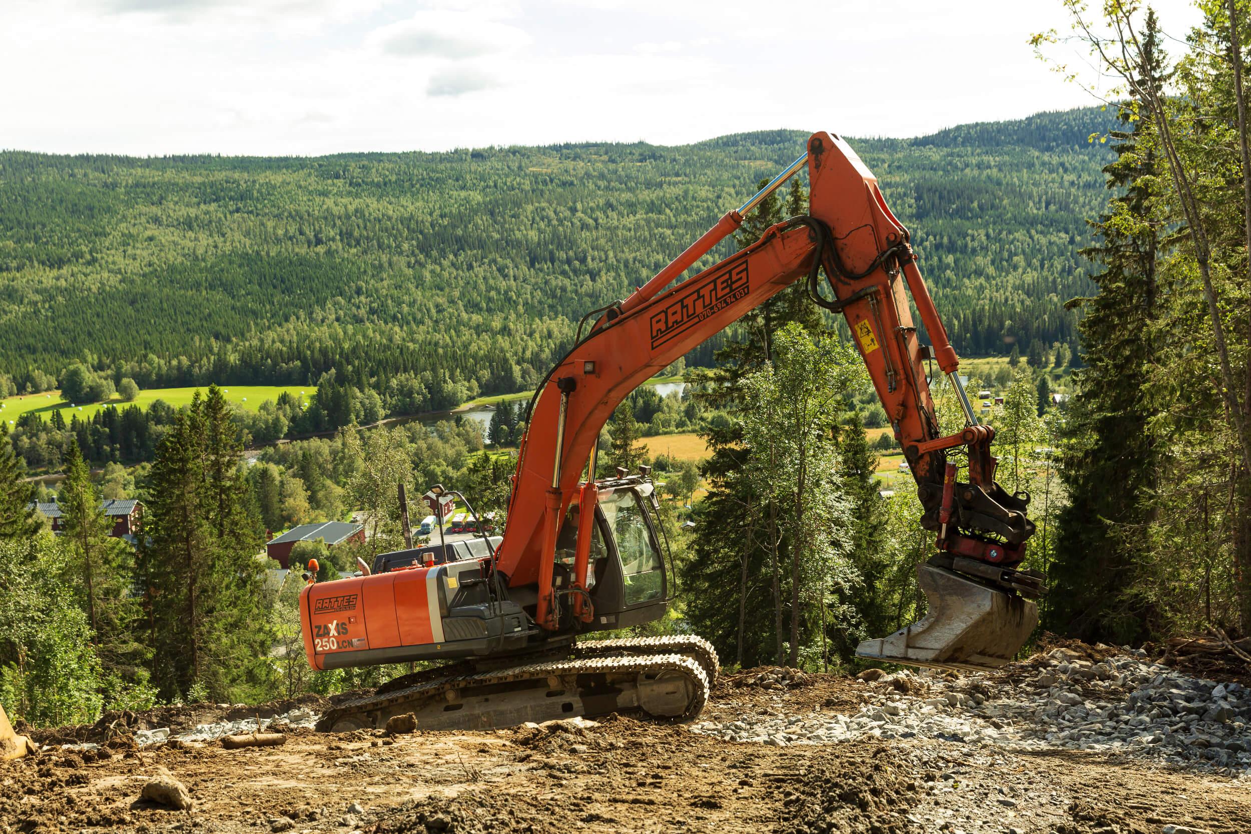 Gräv- och planeringsarbeten