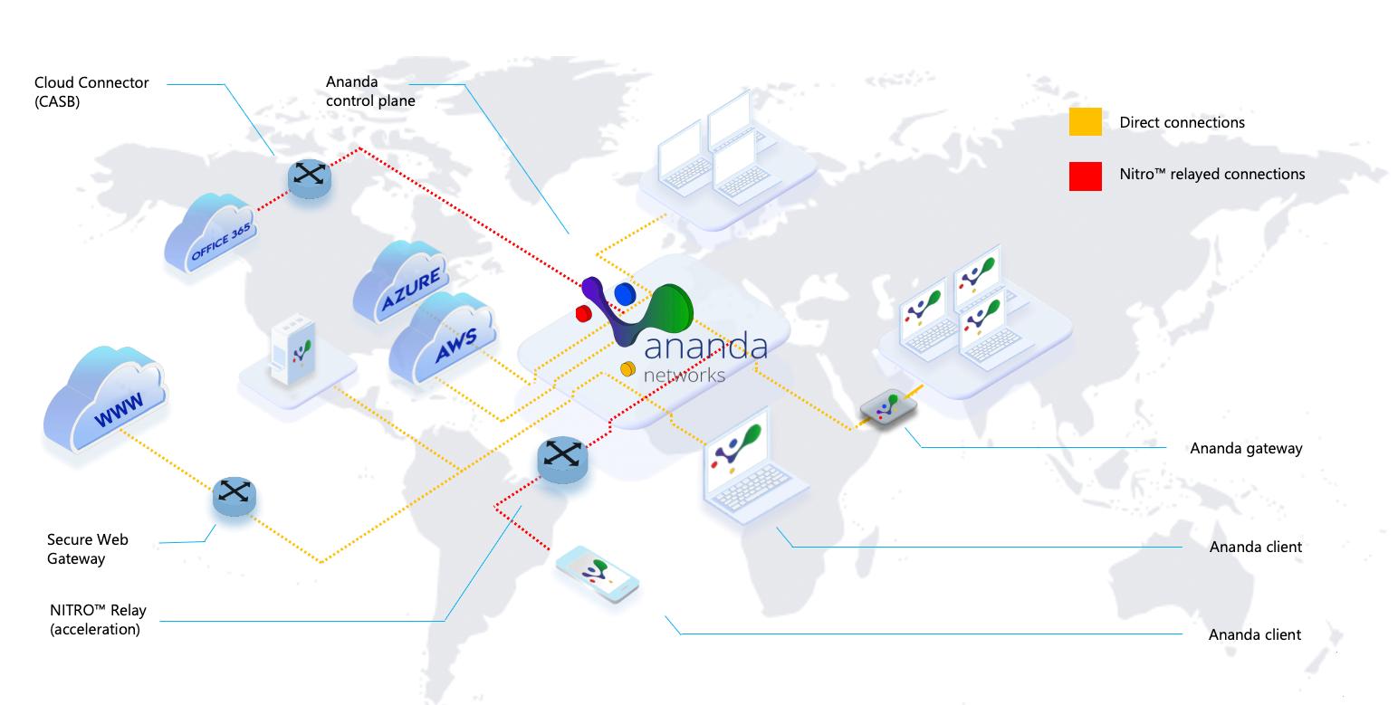 Ananda's distributed SASE network fabric