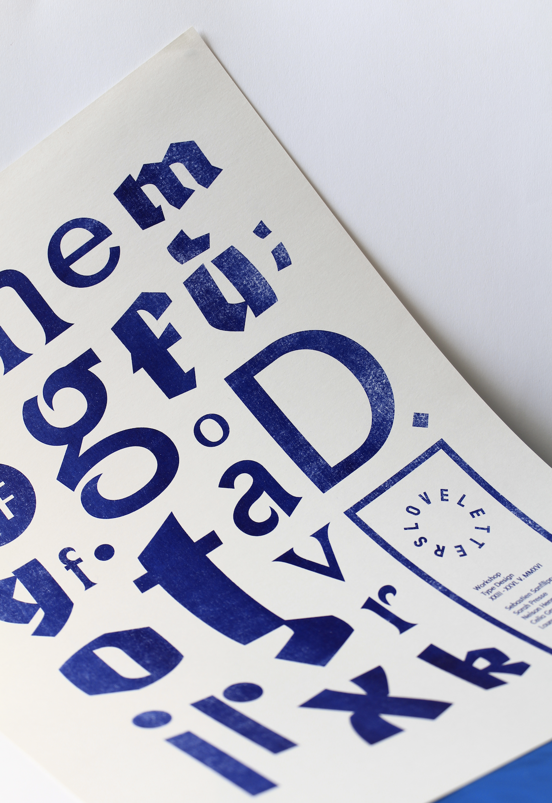 Mixed typefaces poster