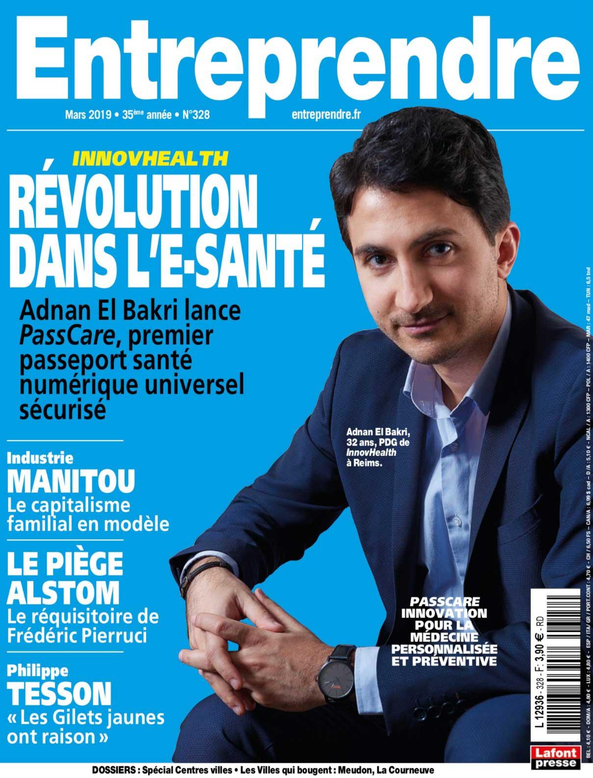 Magazine Entreprendre - Adnan El Bakri - Révolution dans l'e-santé