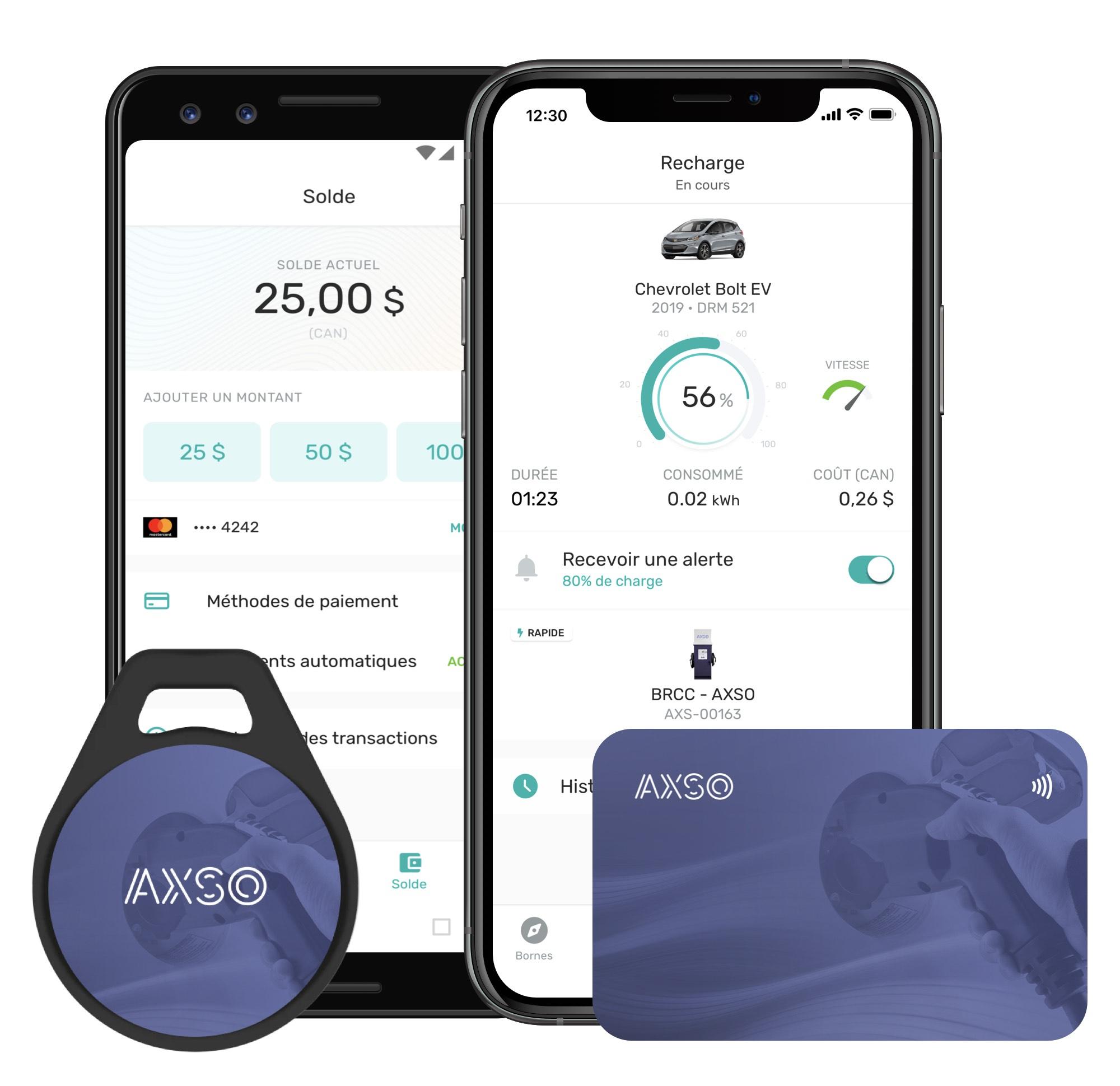 AXSO Platform screenshot for paying and charging