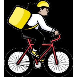 nerdish biker