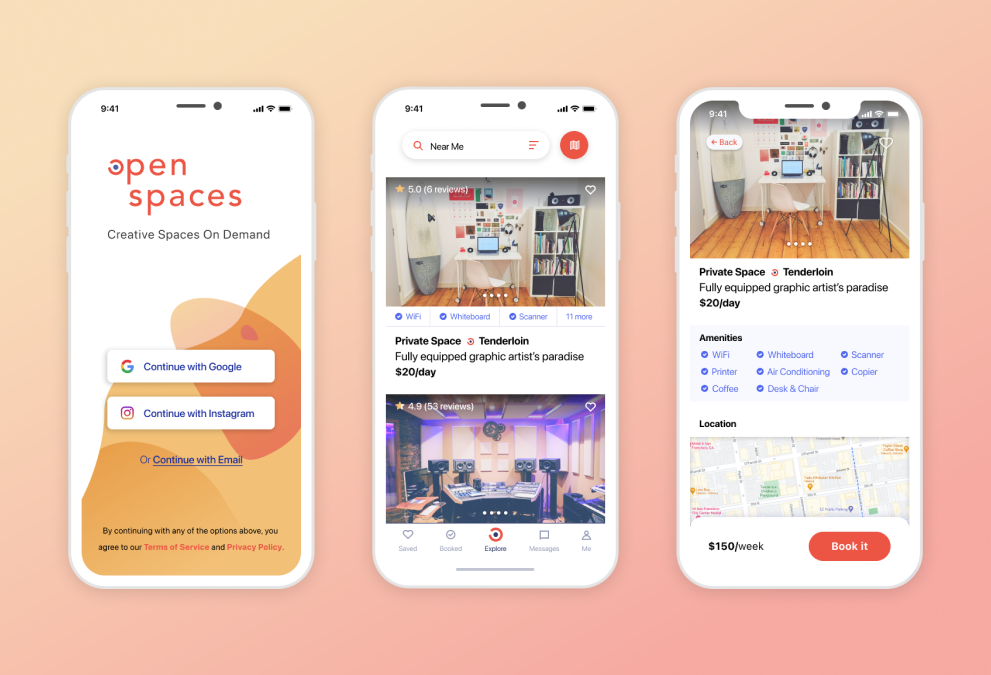 Open Spaces Mobile App