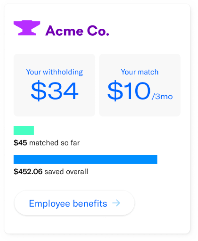 Automatically save with each paycheck