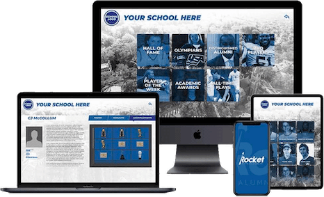 Digital Trophy Case for athletics