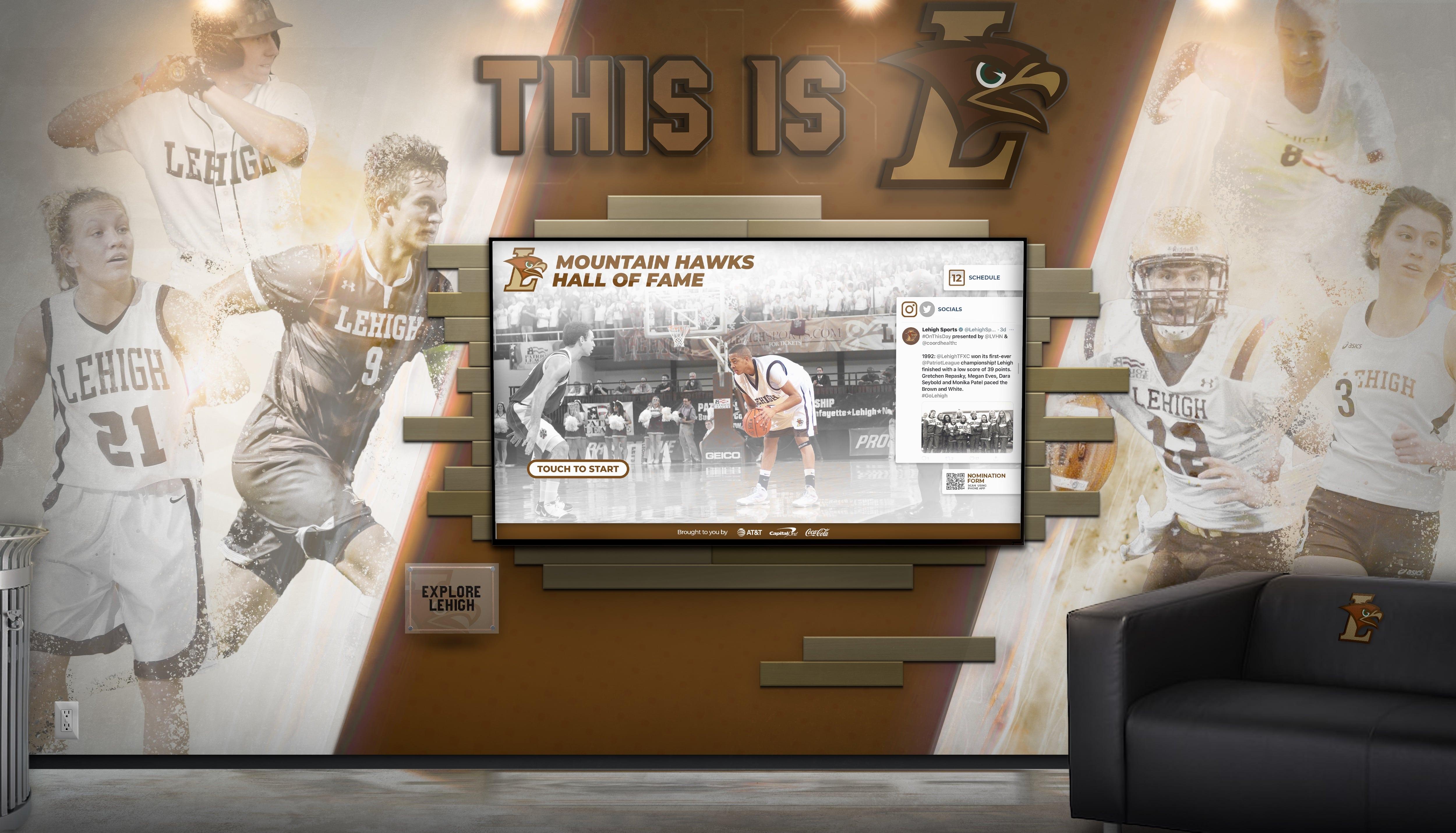 Lehigh Athletics Display