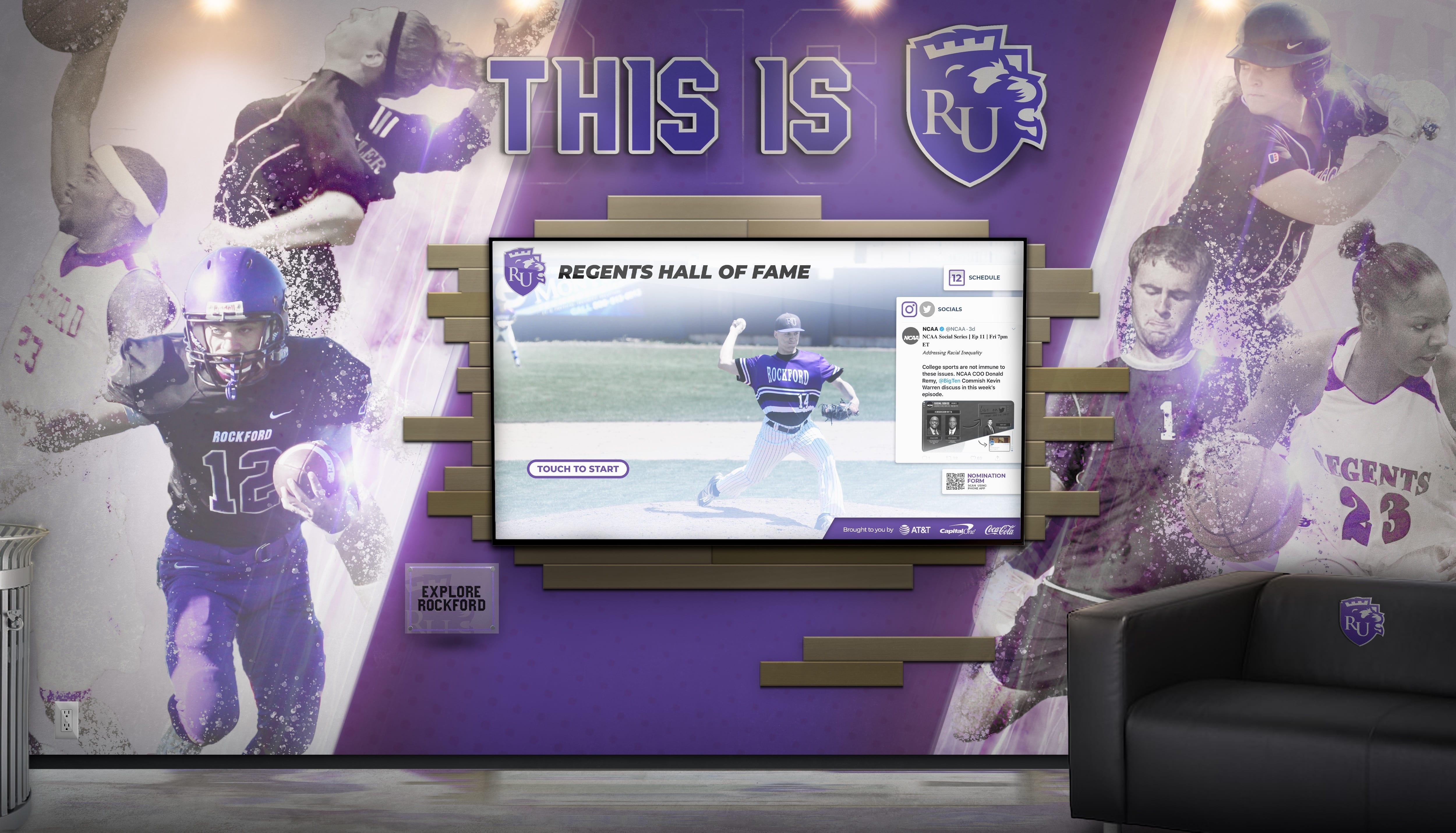 Rockford Regents Athletics Touchscreen Display
