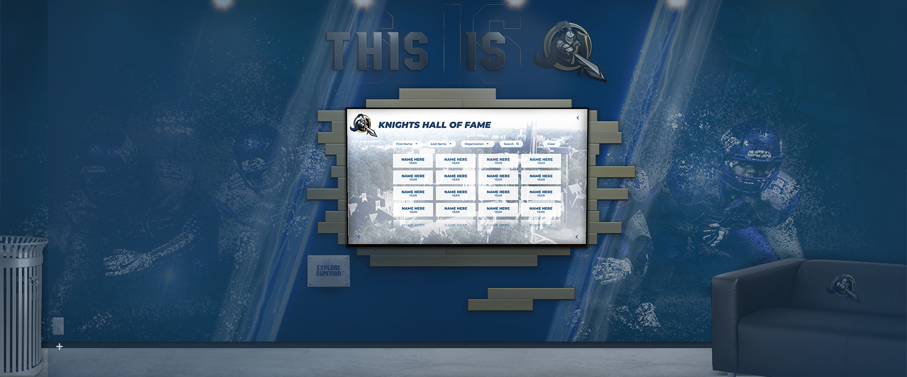 Digital Wall of Fame Touch Screen Hall of Fame
