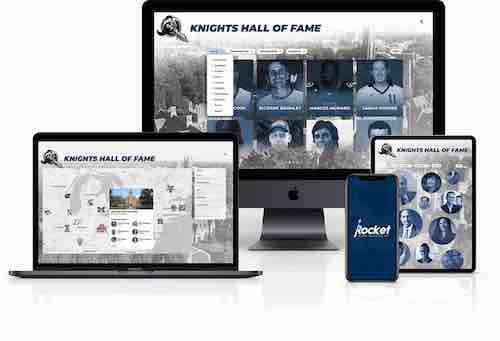 Digital Trophy Case for Athletic Awards.