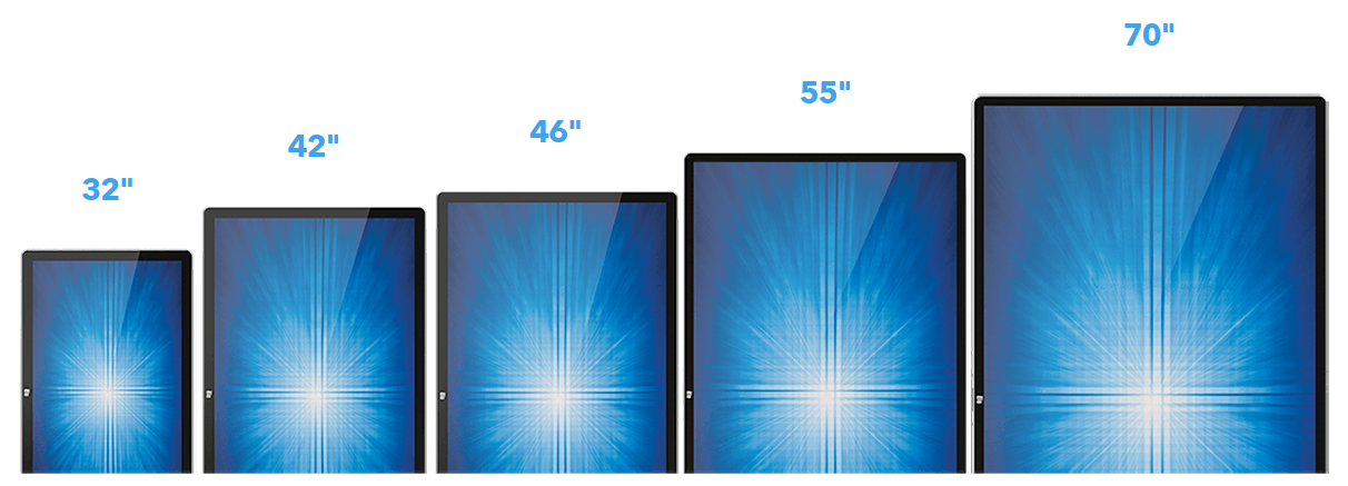 Touch screen Hall of Fame Sizes