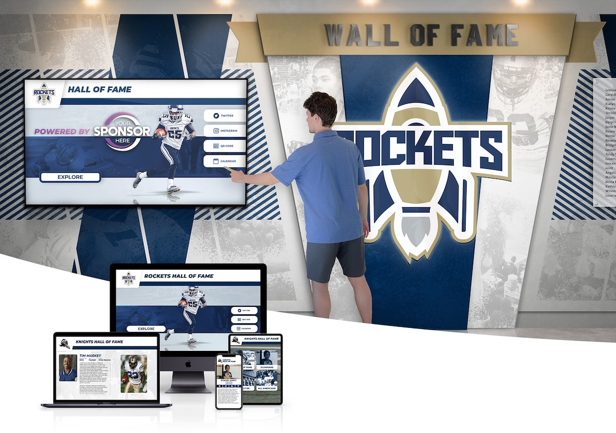 Digital Wall of Fame Hall of Fame Touchscreen Ideas