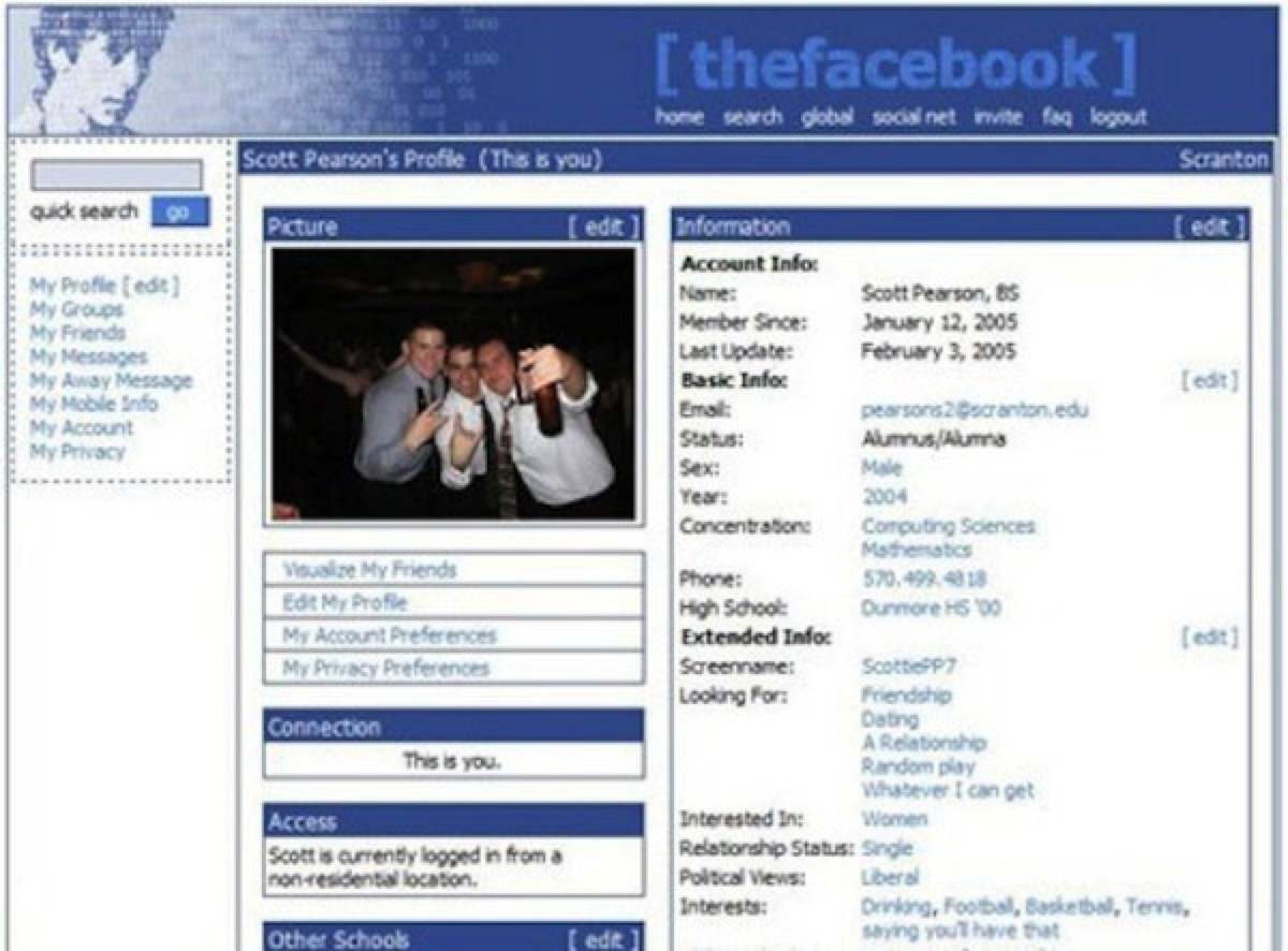Early Facebook: 2004-2005