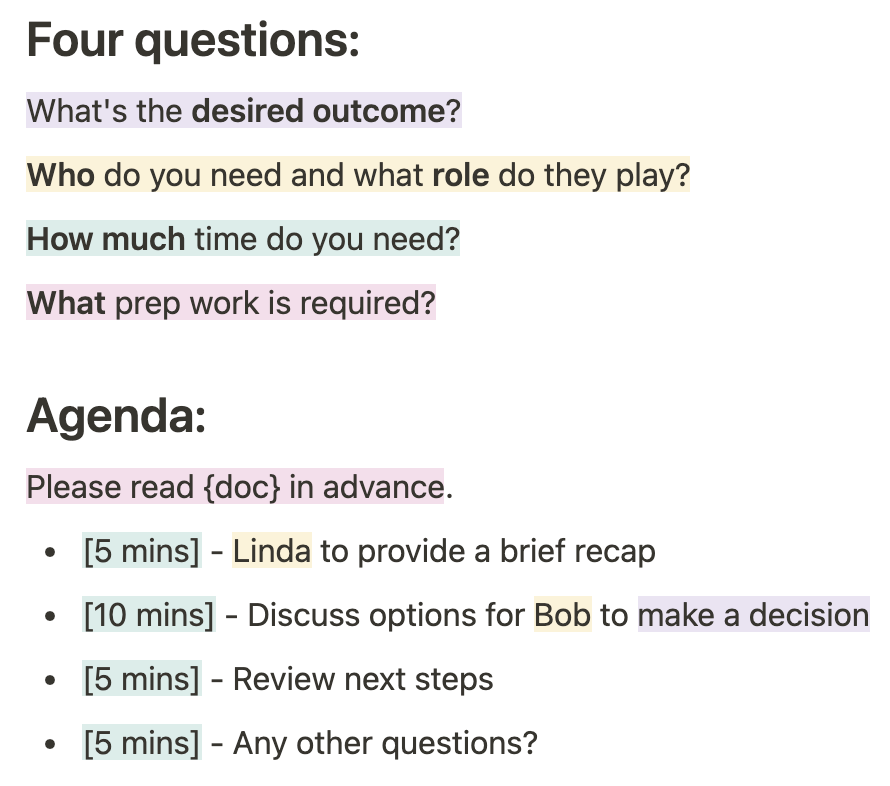 Free template and example for meeting agenda