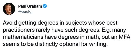 Fancy worthless degrees | Paul Graham