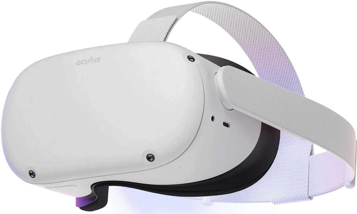 Oculus Quest 2 i vitt VR headset