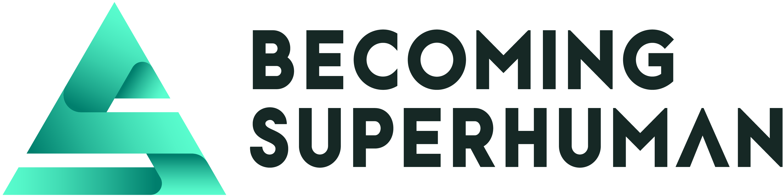 """The Becoming Superhuman logo with a bright green """"S"""" and the words """"becoming superhuman"""" to the right."""