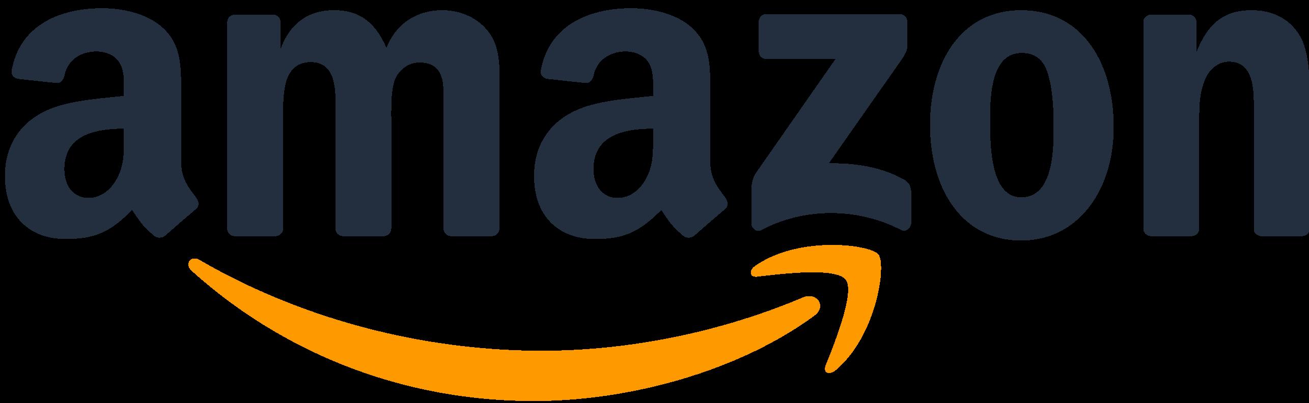 Amazon company logo with orange arrow from a to z.