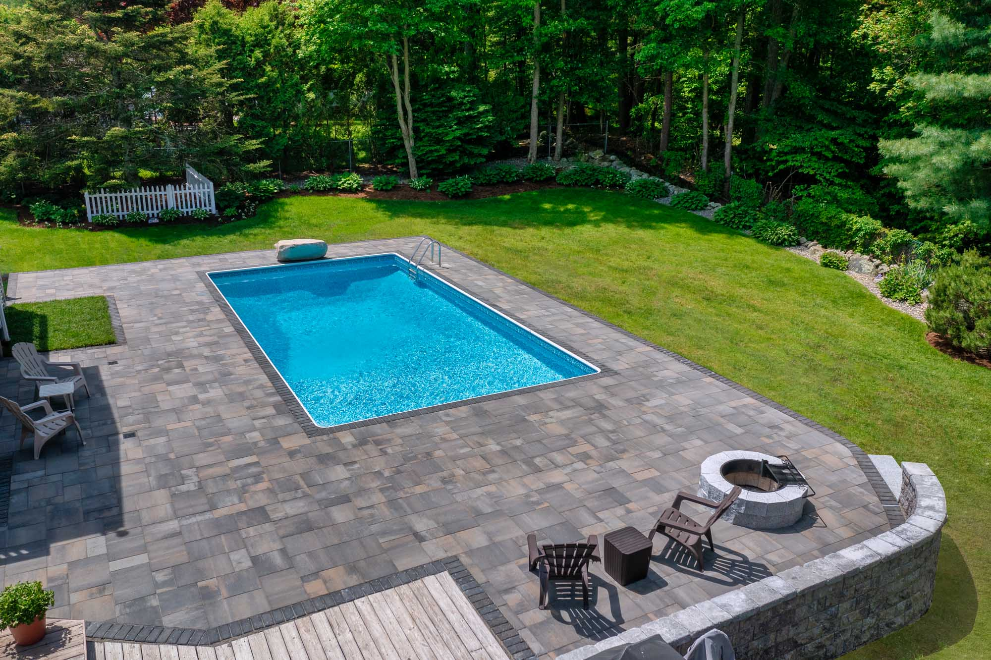 Hardscape Pool Patio and Fire pit