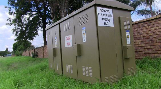 Mini-substation Container that contains the Low Voltage Universal Alarm System