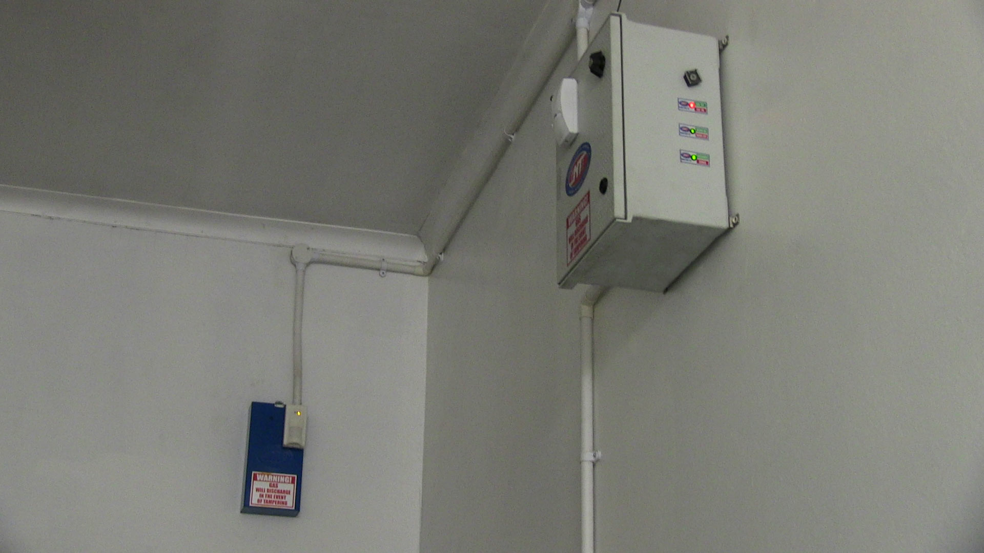 Pepper gas alarm system installed in a substation.