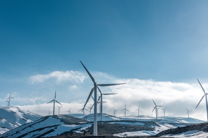 wind farms on top of mountains