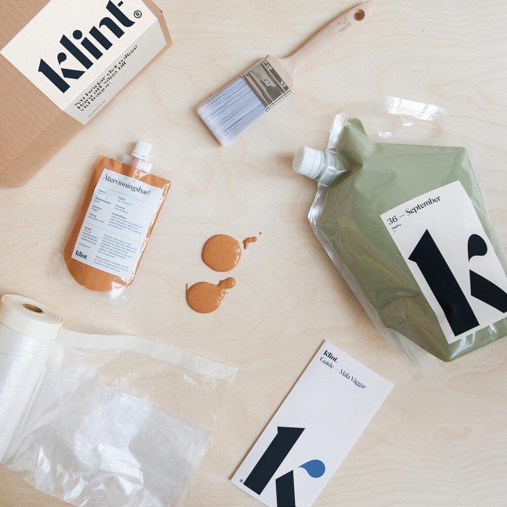 Färg och måleriutrustning från Klint