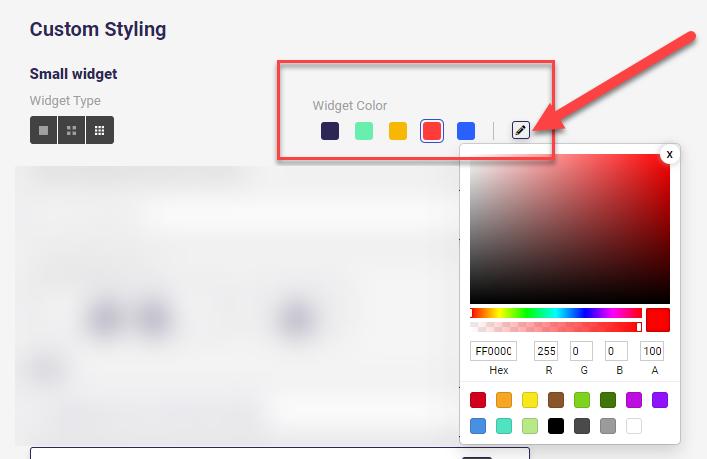 Consolto video chat - Change widget colors