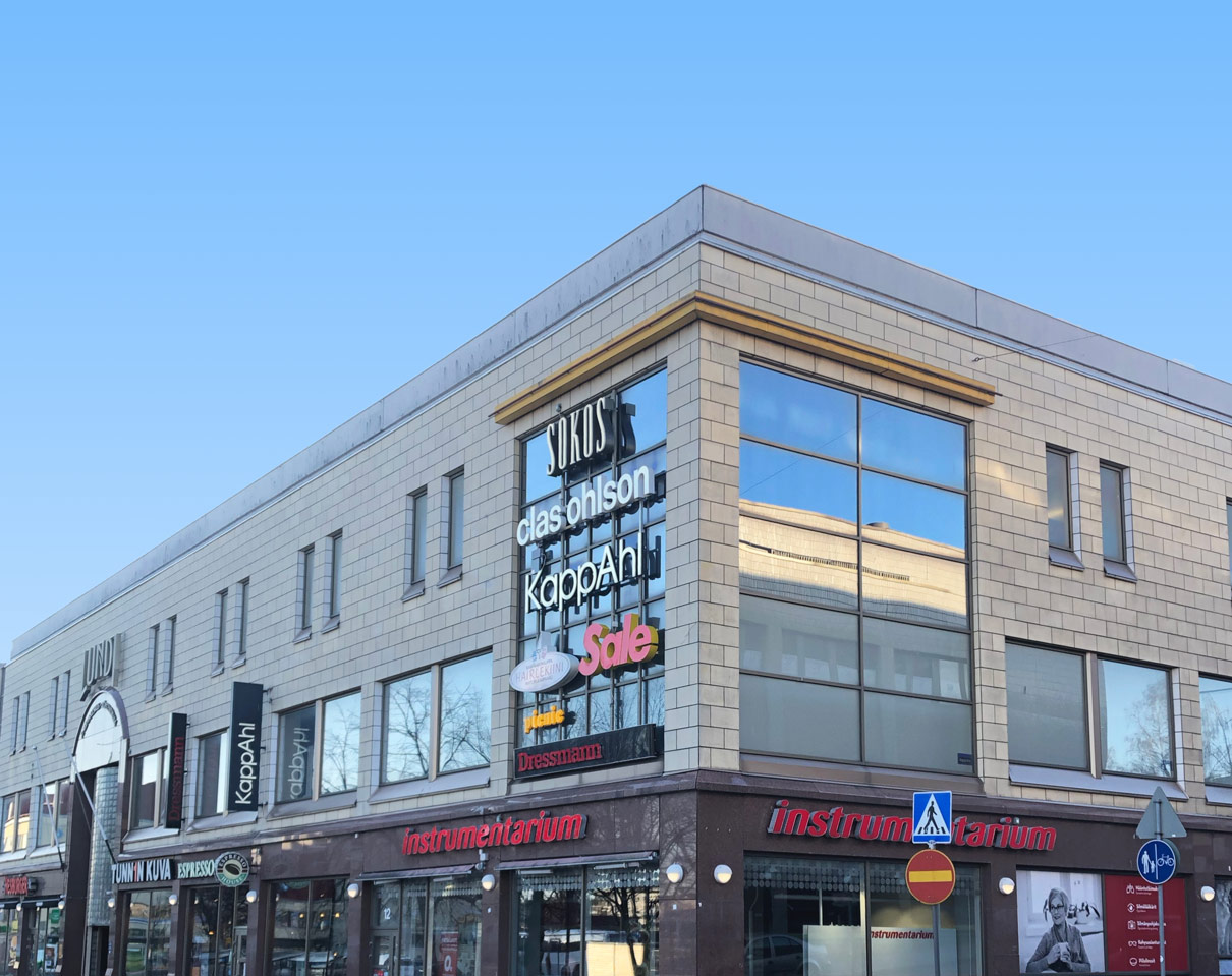 Outside view of Lundi shopping center