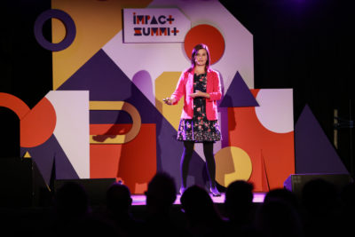 April Wensel on Impact Summit 2019 stage