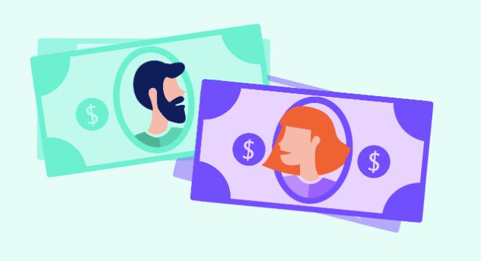 Cartoon image of money