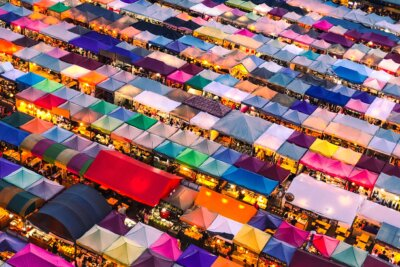 Picture of large outdoor market
