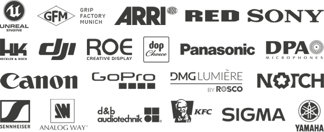 Logos of our equipment partners